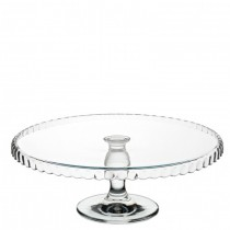Patisserie Downturn Footed Glass Cake Plate 32cm