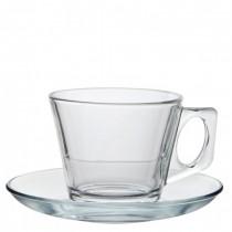 Vela Glass Cup & Saucer 7oz (20cl)