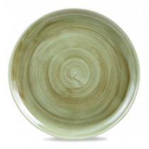 Churchill Stonecast Patina Burnished Green Coupe Plate 32.4cm