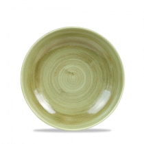 Churchill Stonecast Patina Burnished Green Coupe Bowl 18.2cm