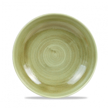 Churchill Stonecast Patina Burnished Green Coupe Bowl 24.8cm