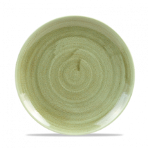 Churchill Stonecast Patina Burnished Green Coupe Plate 21.7cm