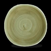 Churchill Stonecast Patina Burnished Green Organic Round Plate 26.4cm