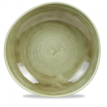 Churchill Stonecast Patina Burnished Green Organic Round Plate 28.6cm