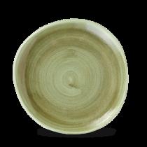 Churchill Stonecast Patina Burnished Green Organic Round Plate 21cm