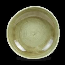 Churchill Stonecast Patina Burnished Green Organic Round Bowl 25.3cm