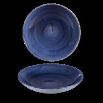 Churchill Stonecast Patina Cobalt Blue Triangle Bowl 23.5cm