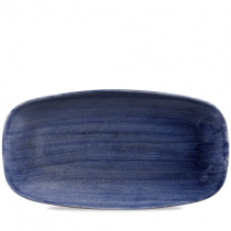 Churchill Stonecast Patina Cobalt Blue Chefs' Oblong Plate No.4 35.5 x 18.9cm