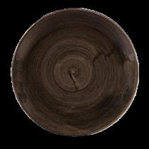 Churchill Stonecast Patina Iron Black Coupe Plate 28.8cm