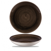 Churchill Stonecast Patina Iron Black Coupe Bowl 24.8cm