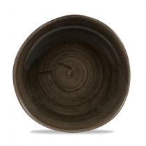 Churchill Stonecast Patina Organic Round Plate Iron Black 28.6cm