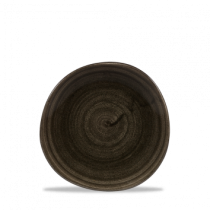 Churchill Stonecast Patina Organic Round Plate Iron Black 18.6cm
