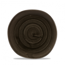Churchill Stonecast Patina Organic Round Plate Iron Black 21cm