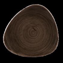 Churchill Stonecast Patina Triangle Plate Iron Black 22.9cm