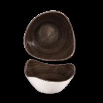 Churchill Stonecast Patina Iron Black Triangle Bowl 15.3cm