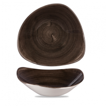Churchill Stonecast Patina Iron Black Triangle Bowl 23.5cm