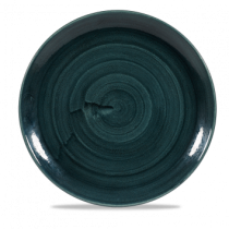 Churchill Stonecast Patina Rustic Teal Coupe Plate 28.8cm