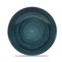 Churchill Stonecast Patina Rustic Teal Coupe Bowl 24.8cm