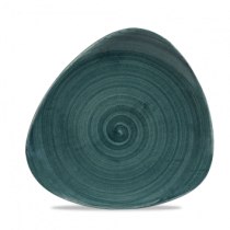Churchill Stonecast Patina Rustic Teal Triangle Plate 22.9cm