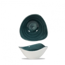 Churchill Stonecast Patina Rustic Teal Triangle Bowl 15.3cm