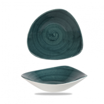 Churchill Stonecast Patina Rustic Teal Triangle Bowl 23.5cm