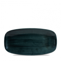 Churchill Stonecast Patina Rustic Teal Chef's Oblong Plate 29.8 x 15.3cm