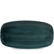 Churchill Stonecast Patina Rustic Teal Chef's Oblong Plate 35.5 x 18.9cm