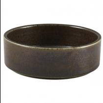 Terra Porcelain Cinder Black Presentation Bowl 13cm