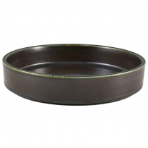 Terra Porcelain Cinder Black Presentation Bowl 20.5cm