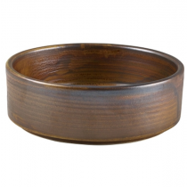 Terra Porcelain Rustic Copper Presentation Bowl 13cm