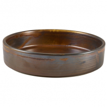 Terra Porcelain Rustic Copper Presentation Bowl 18cm