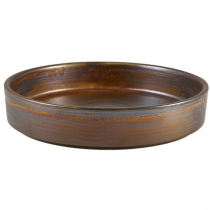 Terra Porcelain Rustic Copper Presentation Bowl 20.5cm