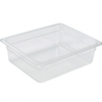 Polycarbonate Gastronorm 1/2 Pan 100mm Deep Clear