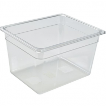 Polycarbonate Gastronorm 1/2 Pan 200mm Deep Clear