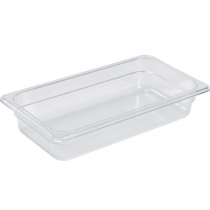 Polycarbonate Gastronorm 1/3 Pan 65mm Deep Clear