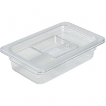 Polycarbonate Gastronorm 1/4 Pan 65mm Deep Clear