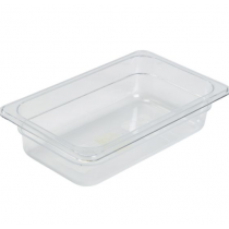 Polycarbonate Gastronorm 1/4 Pan 100mm Deep Clear