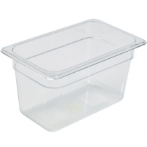 Polycarbonate Gastronorm 1/4 Pan 150mm Deep Clear