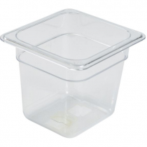Polycarbonate Gastronorm 1/6 Pan 150mm Deep Clear