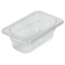 Polycarbonate Gastronorm 1/9 Pan 65mm Deep Clear