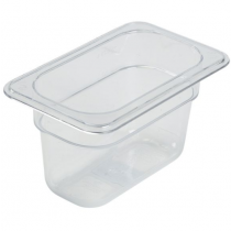 Polycarbonate Gastronorm 1/9 Pan 100mm Deep Clear
