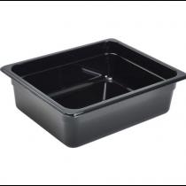 Polycarbonate Gastronorm 1/2 Pan 100mm Deep Black