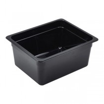 Polycarbonate Gastronorm 1/2 Pan 150mm Deep Black