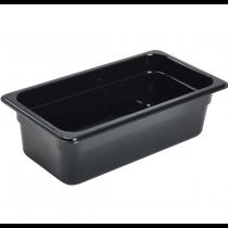 Polycarbonate Gastronorm 1/3 Pan 100mm Deep Black