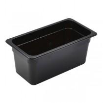 Polycarbonate Gastronorm 1/3 Pan 150mm Deep Black