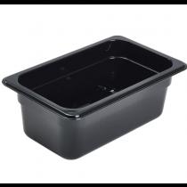 Polycarbonate Gastronorm 1/4 Pan 100mm Deep Black