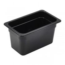 Polycarbonate Gastronorm 1/4 Pan 150mm Deep Black