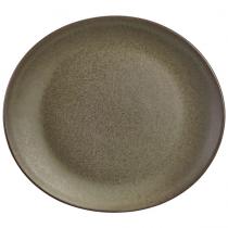 Terra Stoneware Oval Plate Antigo 25 x 22cm