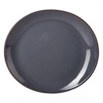 Terra Stoneware Oval Plate Rustic Blue 21 x 19cm