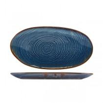 Terra Porcelain Aqua Blue Organic Platter 31 x 16cm